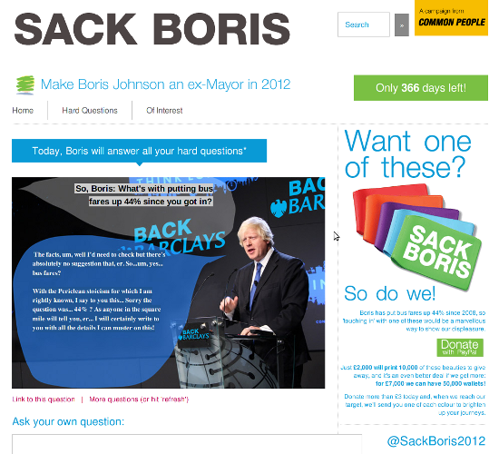 Screenshot - Make Boris an ex-mayor in 2012