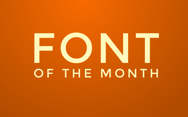Font of the month cover image