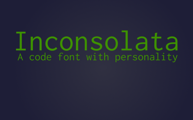 Font of the month: Inconsolata cover image