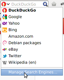 how to change search engine to duckduckgo as default