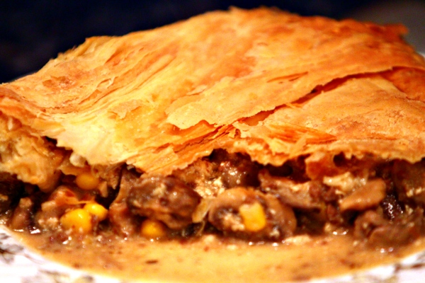 Vegan Mushroom, Tofu, and Sweetcorn Pie cover image