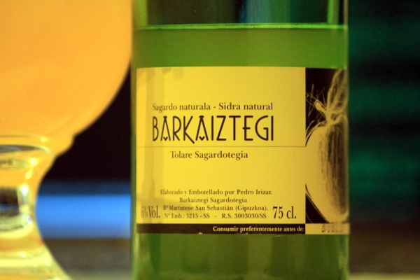 Lovely basque cider by way of amsterdam