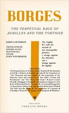 Cover of The perpetual race of Achilles and the tortoise by Jorge Luis Borges