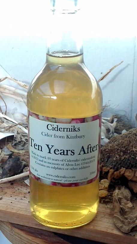 Bottle of ciderniks ten years after: cider from kintbury, berkshire