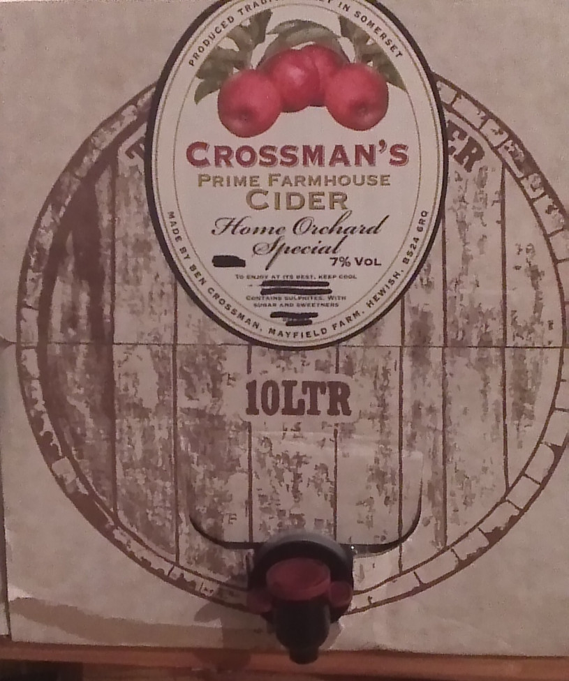 Picture of a bottle of crossmans cider