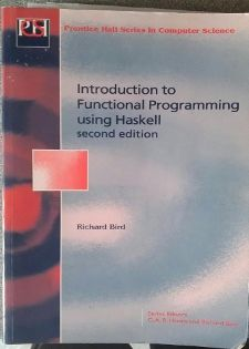 Cover of Intro to Functional Programming using Haskell