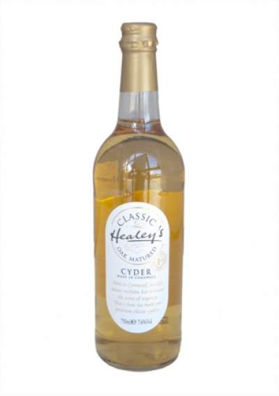 Bottle of healey's classic oak matured cornish cyder