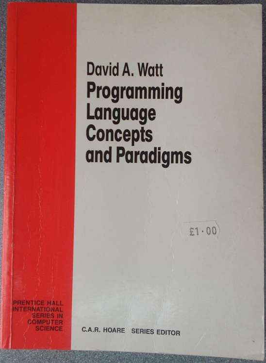 Cover of programing language concepts and paradigms by David A. Watt