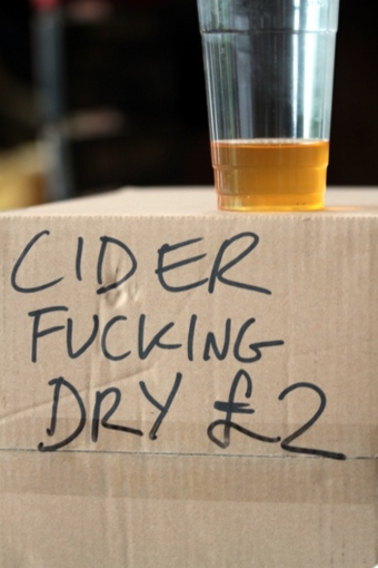 Picture of a box of fucking dry Ross cider