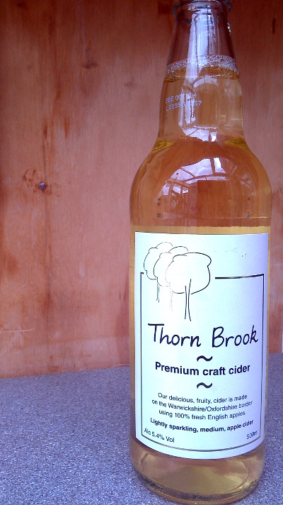 Picture of a bottle of thorn brook medium craft cider